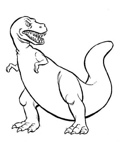 динозавр раскраска4