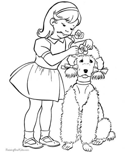 собака раскраска11
