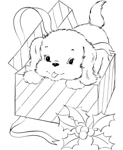 собака раскраска7