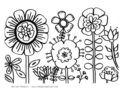 цветы раскраска6