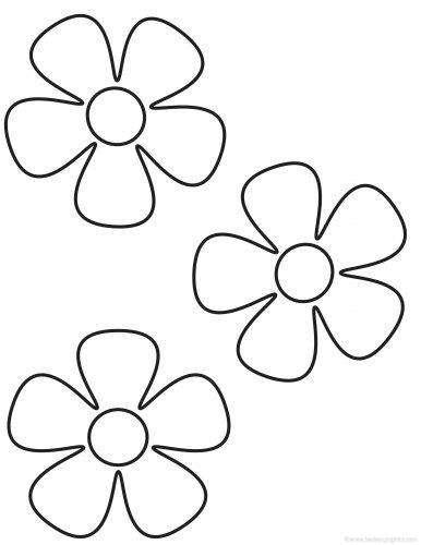 цветы раскраска7