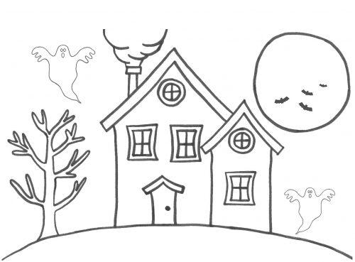 дом раскраска2