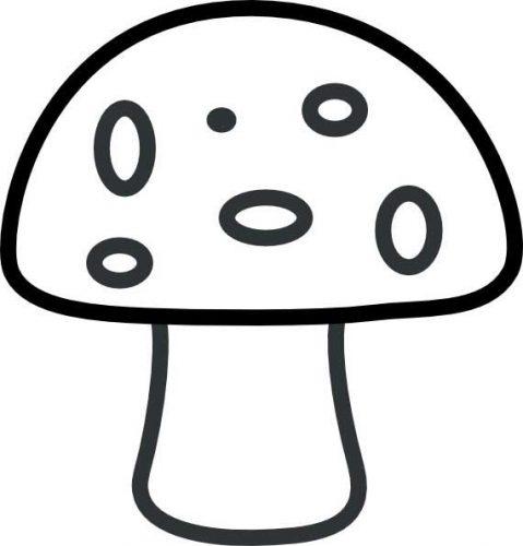гриб раскраска3