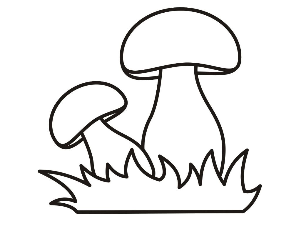 Раскраска: гриб (для детей)