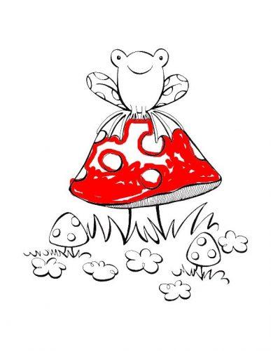 гриб раскраска20