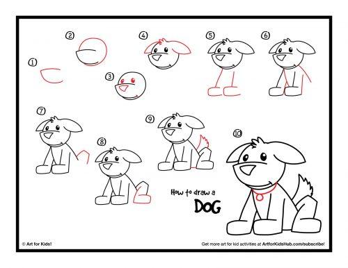собака как нарисовать2