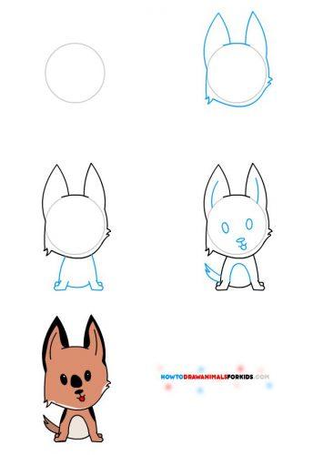 собака как нарисовать5