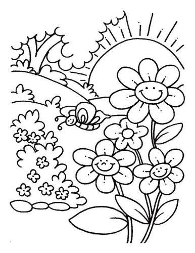 весна раскраска5