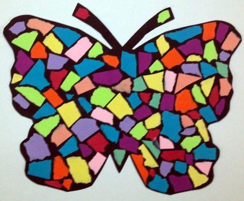 обрывная аппликация бабочка