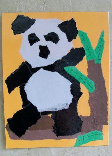 обрывная аппликация панда