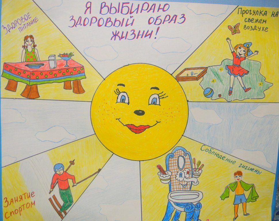 Рисунок здоровый образ жизни картинки для детей