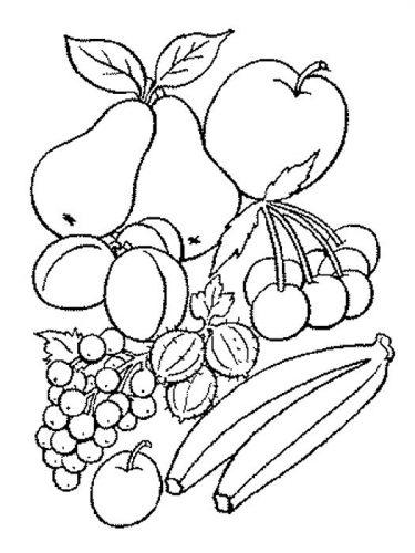 фрукты раскраска5