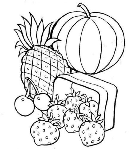 фрукты раскраска6