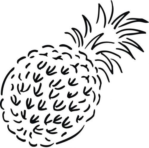 ананас раскраска