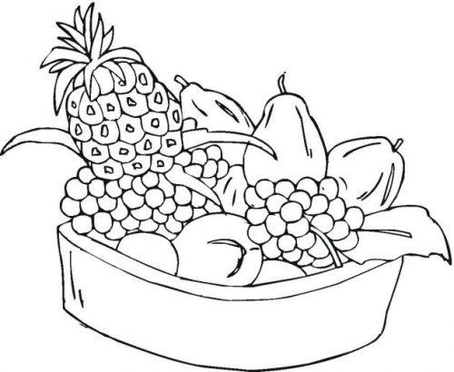 фрукты раскраска2