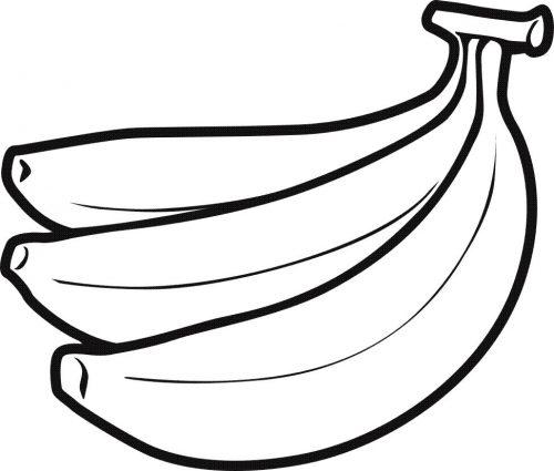 бананы раскраска