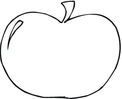 яблоко раскраска2
