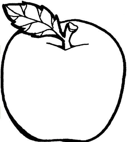 яблоко раскраска3