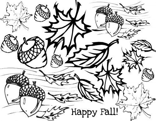 осень раскраска6