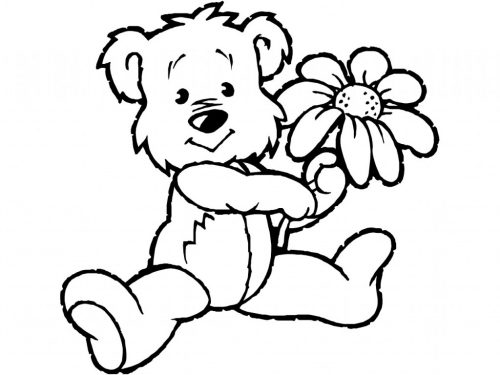 раскраска медведь2