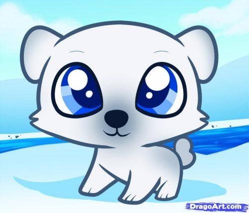 картинка белого медведя