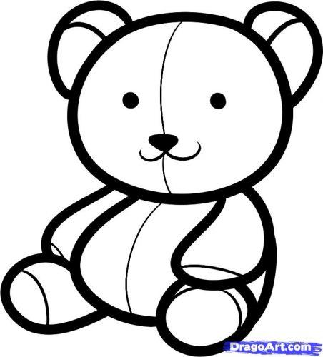 медведь раскраска