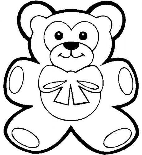 раскраска мишка для детей