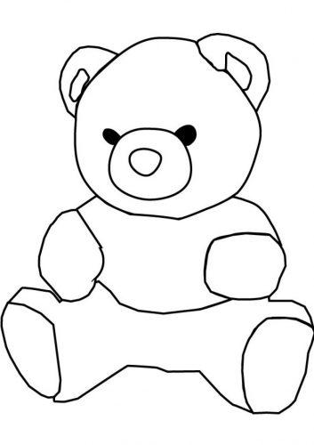 раскраска мишка для детей2