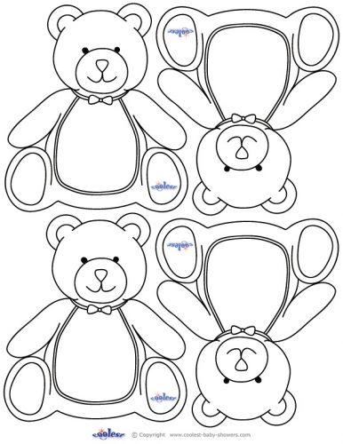 раскраска медведь3