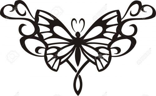 картинки бабочек для вырезания8
