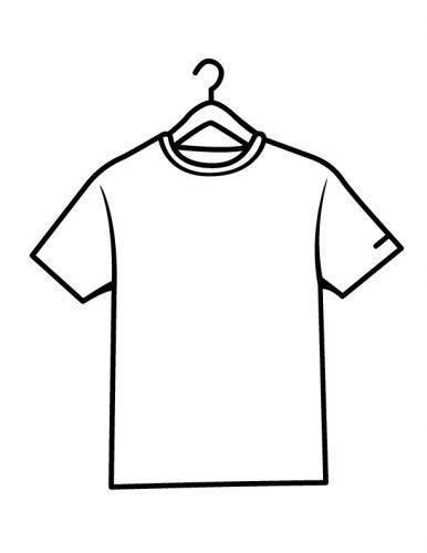 футболка раскраска
