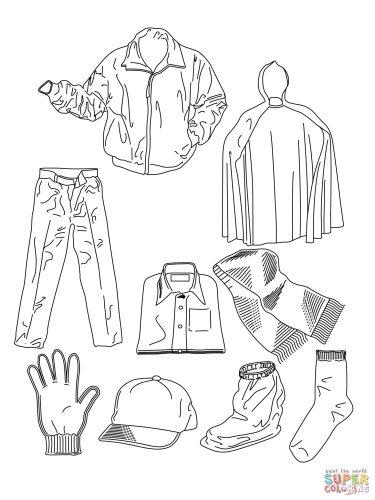 одежда раскраска