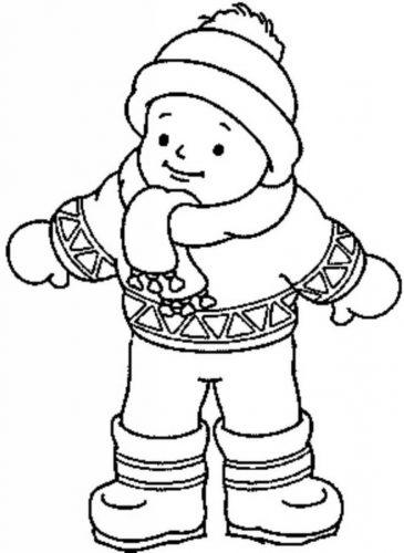 мальчик в одежде раскраска