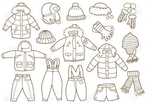 зимняя одежда 2 раскраска