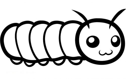 раскраска гусеница
