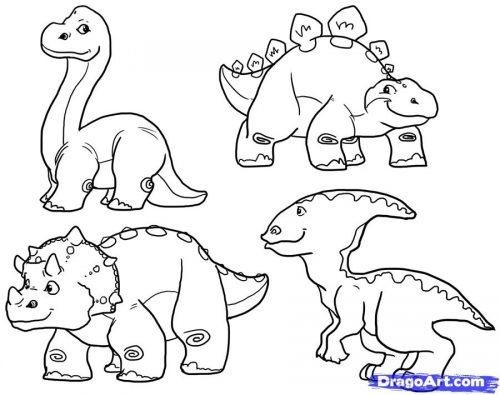 динозавры раскраска11
