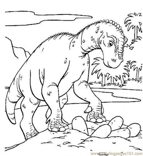 динозавры раскраска12