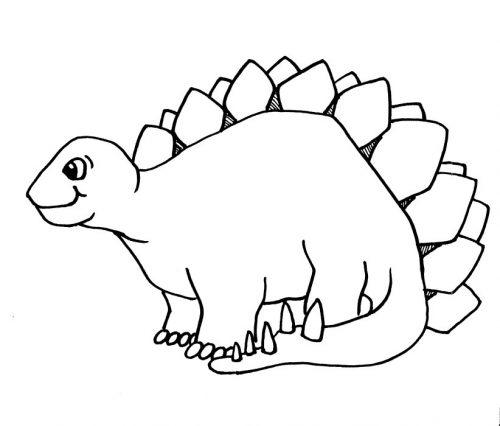 динозавры раскраска3
