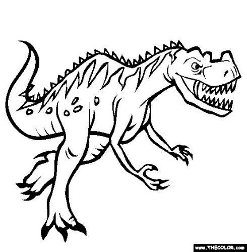 динозавры раскраска4