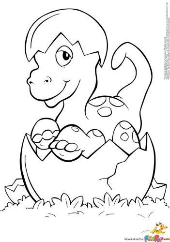 динозавры раскраска7