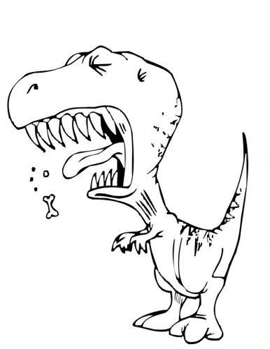 динозавры раскраска8