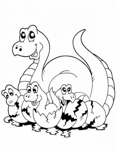динозавры раскраска9
