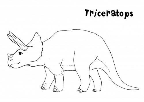 динозавры раскраска10