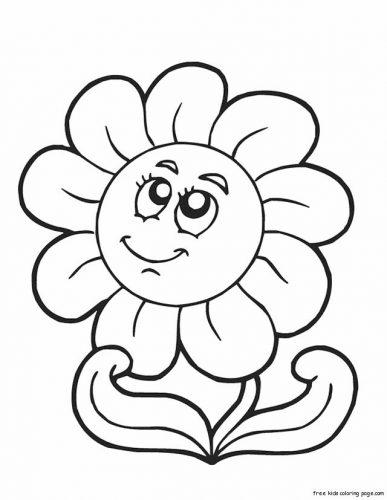 цветы разукрашка4