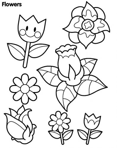 цветы разукрашка8