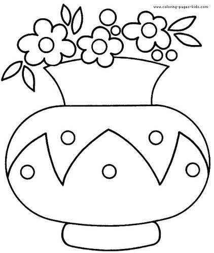 раскраска ваза с цветами5