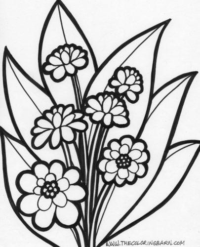 раскраска цветы2
