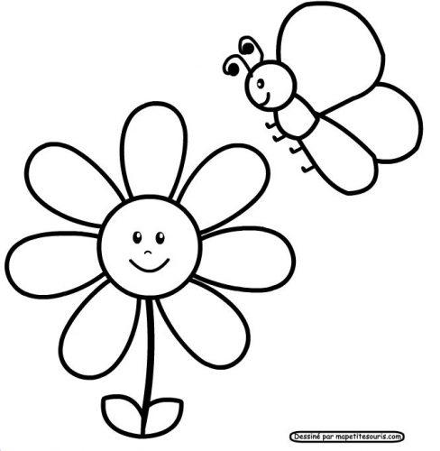 цветы разукрашка10