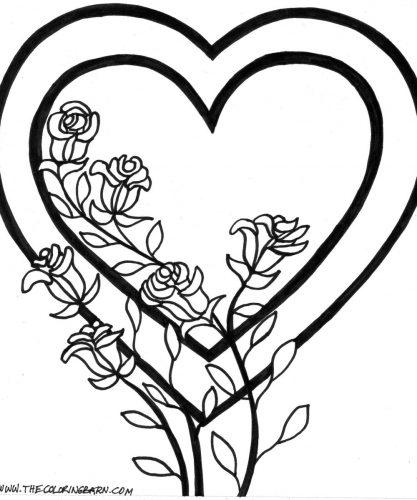 цветы разукрашка11