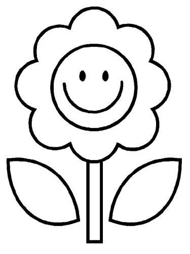 раскраска цветы4